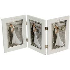 "Personalizado-Triple Aluminio Boda Frame, 3 de 6 ""x 4"" Photo Frames wg351"