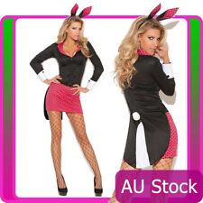 Ladies Sexy Playboy Easter Bunny Rabbit Costume Halloween Party Fancy Dress