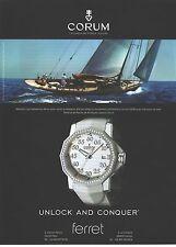 PUBLICITE ADVERTISING 2007 CORUM la montre amiral's Cup compétition 40 en acier