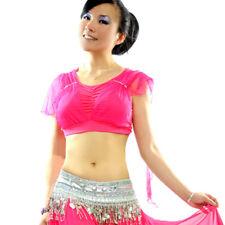 C61 danza vientre top opaca belly dance tribal Fusion
