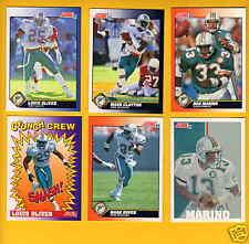 1991 Score Miami Dolphins Set Dan Marino Mark Clayton Reggie Roby Duper Mckyer