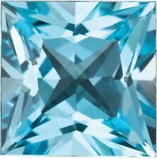 Natural Fine Sky Blue Topaz - Square Princess - Brazil - Top Grade