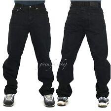 Mens Peviani jeans, black g denim pants, straight fit urban hip hop star loose