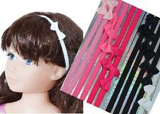1 Haarband Strinband Schleife Haarreif Elastisch Haarschmuck Mädchen Frau Weiß