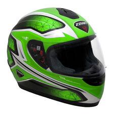 Zoan Thunder Full-Face Motocycle Helmet - Green Graphic