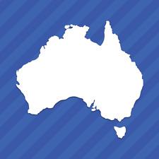 Australia AU Country Outline Vinyl Decal Sticker