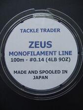 ZEUS HIGH TECH giapponese monofilamenti Rig Gancio & linea di lunghezza-GRATIS P & P