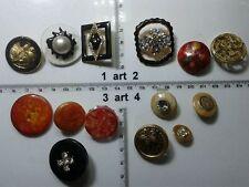 1 lotto bottoni gioiello strass smalti perle vetro buttons boutons vintage g9