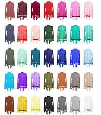Long Sleeves with Pocket Shawl Collar Open Drape Cardigan Sz. S ~ 3XL