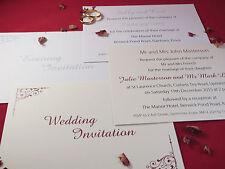 Personalised Wedding Invitations Day, Evening, Reception Invite Card INVW06