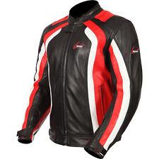 Weise CORSA RS NOIR ROUGE moto cuir sport veste