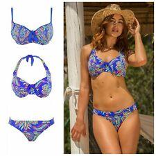 Pour Moi Amalfi Padded or Halter Neck Bikini Top or Tab or Control Bikini Brief