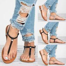Summer Women's Slingback Sandals Flip Flops Slippers Casual Buckle Flats Shoes