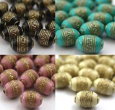 20 x Gold Metall Enlaced Perlen Für Die Schmuckherstellung 9 x 13mm