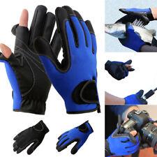 1Pair Neoprene Fishing Gloves 2 Slits Full Finger Shooting Hiking Jigging Gloves