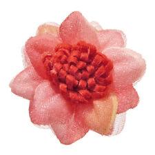 Bague ROUGE ROSE grande Fleur tissu réglable ajustable Taille 56 58 60 62 64 66