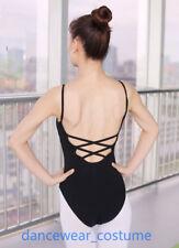 Ladies Cotton Ballet Tight Gymnastics Dance Bodysuit Leotard Unitard Camisole 5S