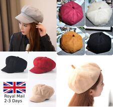 Vintage Unisex French Style Women Girls Velvet Warm Plain Beret Beanie Hat