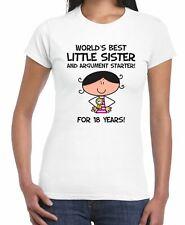 World Best Little Sister Women's 18th Birthday Present T-Shirt - Gift