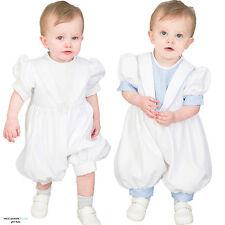 Bébé garçons tenue de baptême / baptême, barboteuse costume blanc diamant bleu nouveau