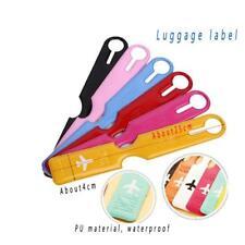 Portable Secure Travel Plastic ID Card Luggage Handbag Large Luggage Tag Label G