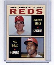 Johnny Bench & Hal McRae 1968 Cincinnati Reds rookie stars Pastime series #2