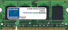 512MB Dram SoDIMM Memoria RAM Para CISCO 880 ROUTERS (MEM8XX-256U768D SERIES)