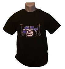 Just Beat It T-shirt Mens Black M-XXL Drum Set Kit Drummer Band Music Rock