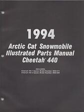 1994 ARCTIC CAT SNOWMOBILE CHEETAH 440  ILLUSTRATED PARTS MANUAL P/N 2254-970