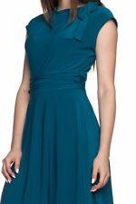 Paperdoll A line Dress Tie Detail - Teal Blue    Junior Miss Sizes S M L