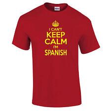 I Can'T Keep Calm I'M Spanische Fußball Lustig UNISEX T- Shirt bis 5xl