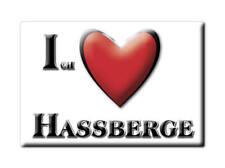 DEUTSCHLAND SOUVENIR KÜHLSCHRANKMAGNET FRIDGE MAGNET ICH LIEBE I LOVE HAßBERGE