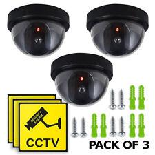 Manichino Telecamera CCTV Sicurezza Sorveglianza DOME CAM fake IR LED Luce Esterno