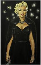 JEREMY WORST Queen Marilyn Monroe Original Painting artwork Christmas halloween