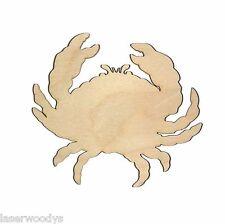Crab Unfinished Wood Shape Cut Out C7 Laser Crafts Lindahl Woodcrafts