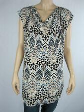 Crossroads Ladies Cap Sleeve Cowl Neck Tunic Top sizes 8 22 Geo Diamond