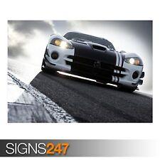 Dodge Viper Race Track (AB139) Voiture Poster-Photo Poster print ART * Toutes Les Tailles