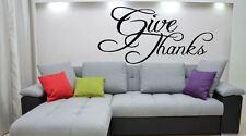 ADESIVI Murali dare grazie religione cristiana della Bibbia cucina Lounge Adesivo Vinile