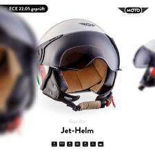 MOTO H44 Italy Jet-Helm Roller-Helm Motorrad-Helm Retro Mofa Vintage XS S M L XL