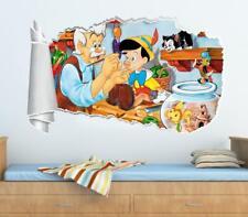 Pinocchio Disney 3D Torn Hole Ripped Wall Sticker Decal Decor Art Mural WT84