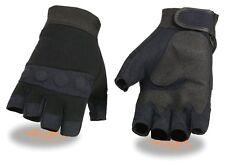 Men's Fingerless Mechanics Glove w/ Amara Bottom & Gel Palm - SH44610