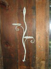 Art & Crafts Flower Hand Forged Wrought Iron Flower Pot Holder