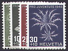 Schweiz Nr. 475-478 postfrisch ** MNH / gestempelt Pro Juventute 1946