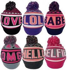 New Adults Ladies #Hashtag Slogan Ski Bobble Beanie Winter Warm Hats by Pro-Hike