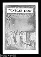 "Mary Boland ""THE VINEGAR TREE"" Frederic Worlock 1931 Chicago, Illinois Playbill"