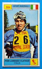 Figurina CAMPIONI DELLO SPORT 1969/70-n.384-CLATAUD (ITA)-SPORT INVERNALI-rec