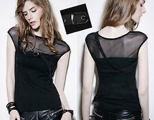 Top haut t-shirt gothique punk lolita fashion rock voilage sangles swag Punkrave