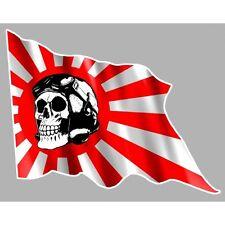 JAPON MARINE left skull Sticker gauche