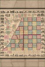Poster, Many Sizes; Map Of Cass Van Buren Berrien Cos. Michigan 1860