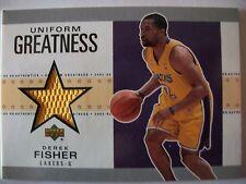 02-03 UD Authentics Uniform Greatness DEREK FISHER , LAKERS, BOX # 46